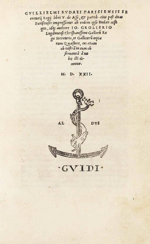 BUDÉ, Guillaume. Libri V de as