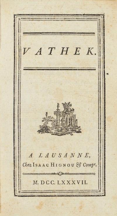 BECKFORD, William Thomas. Vath