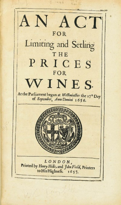 [WINE]. An Act for Limiting an