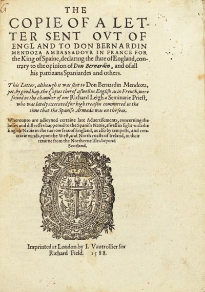 [LEIGH, Richard]. The copie of
