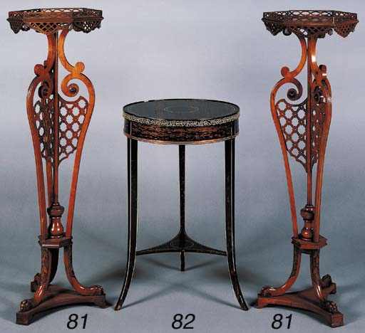 A VICTORIAN IVORY-INLAID CALAM