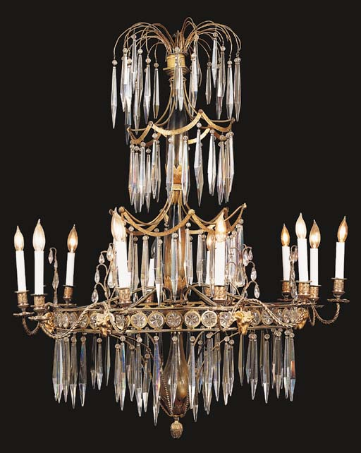 A REGENCY STYLE GILT-METAL AND