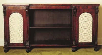 A GEORGE IV ROSEWOOD SIDE CABI