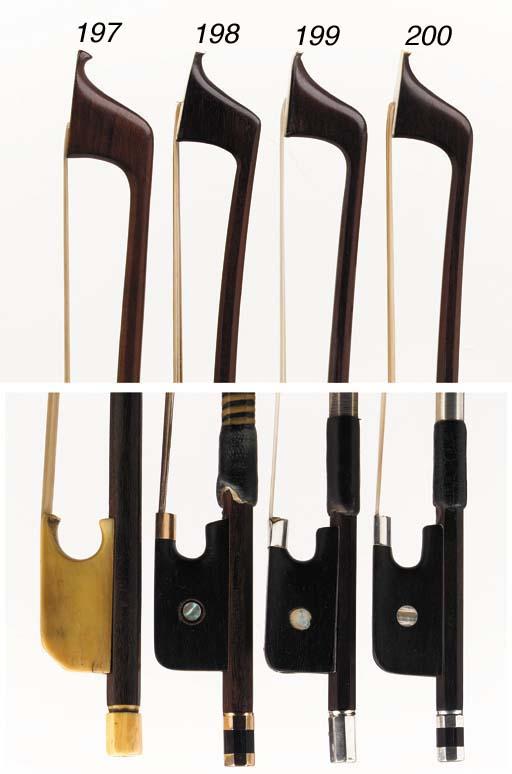 a gold-mounted violoncello bow