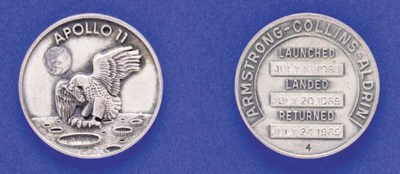 FLOWN Apollo 11 Sterling Silve