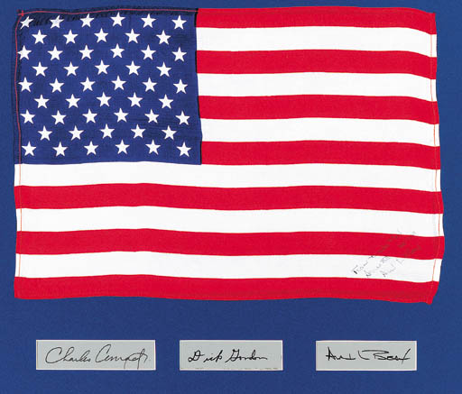 FLOWN United States silk flag
