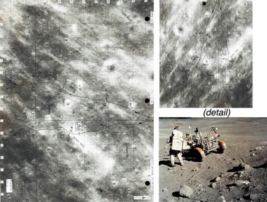 [MAP]. FLOWN Apollo 16 Lunar S