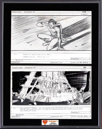 ORIGINAL STORYBOARDS FROM