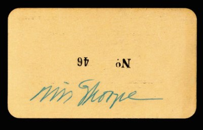 JIM THORPE SIGNED DANCE TICKET
