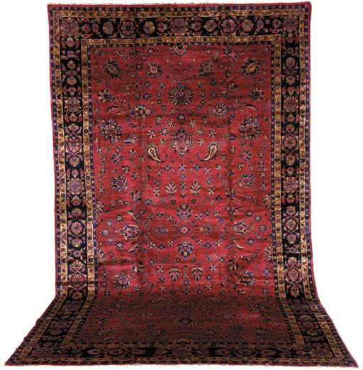 AN INDO SAROUK CARPET
