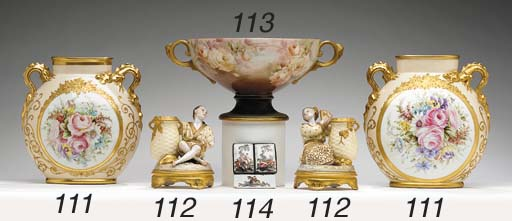 A PAIR OF LIMOGES (JEAN POUYAT