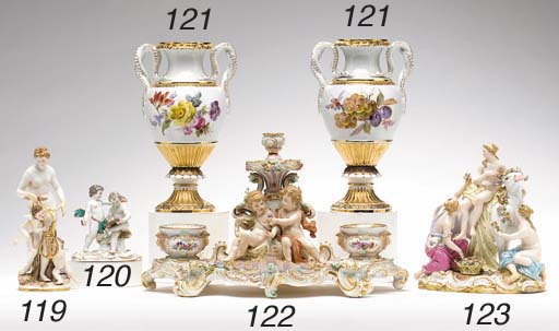 A MEISSEN FIGURE GROUP OF PUTT