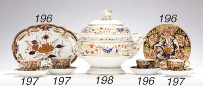 A GROUP OF ENGLISH IMARI WARES