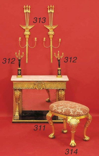 A GEORGE II STYLE GILTWOOD STO