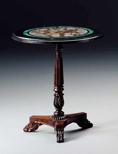 A REGENCY ROSEWOOD CENTER TABL