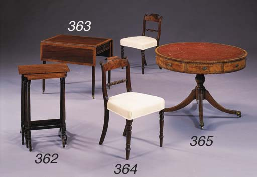 A SET OF FOUR REGENCY STYLE MA