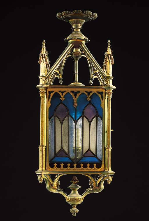 A GOTHIC STYLE GILT-METAL AND