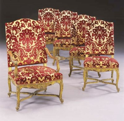 A SET OF EIGHT REGENCE STYLE G