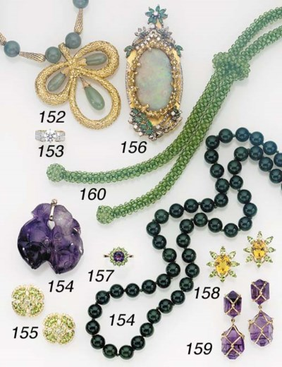 A GROUP OF GEM-SET AND COSTUME