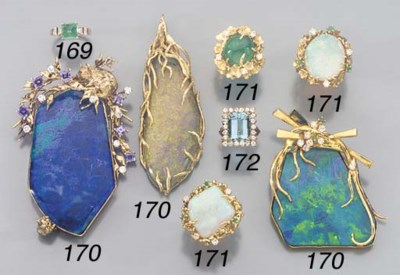 A GROUP OF OPAL DOUBLET AND GE