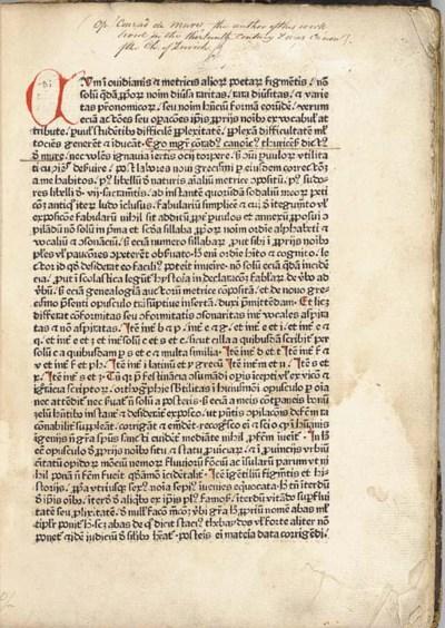 CONRADUS de MURE. Fabularius,