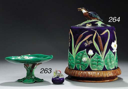 A GEORGE JONES MAJOLICA 'LILY-