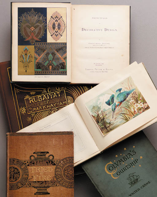 SIX ANTIQUE REFERENCE BOOKS