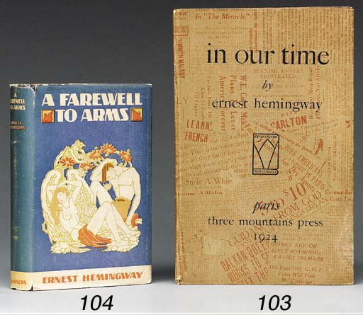 HEMINGWAY, ERNEST. In Our Time