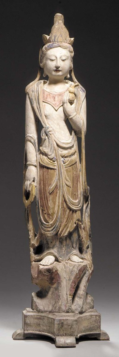 A Polychromed Wood Figure of G
