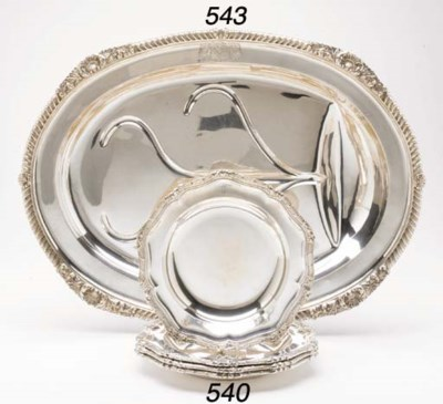 A GEORGE III SILVER WELL AND T