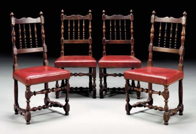 A SET OF FOUR WILLIAM AND MARY