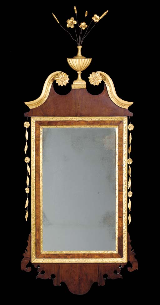 A CHIPPENDALE MAHOGANY AND PAR