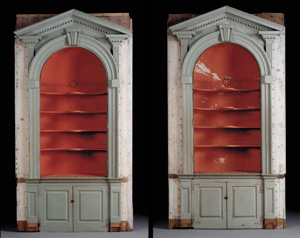 A PAIR OF CHIPPENDALE PAINTED