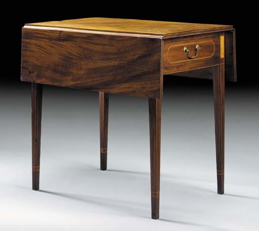A FEDERAL INLAID MAHOGANY PEMB