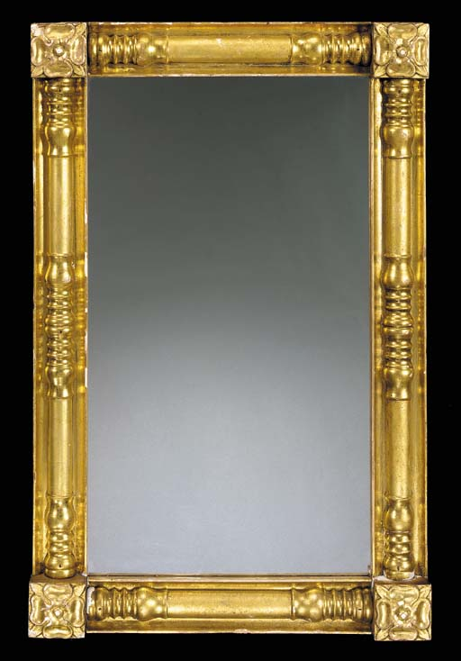 A CLASSICAL GILTWOOD PIER GLAS