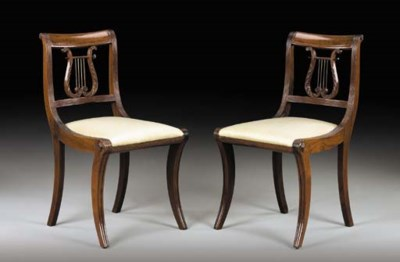 A PAIR OF CLASSICAL MAHOGANY K