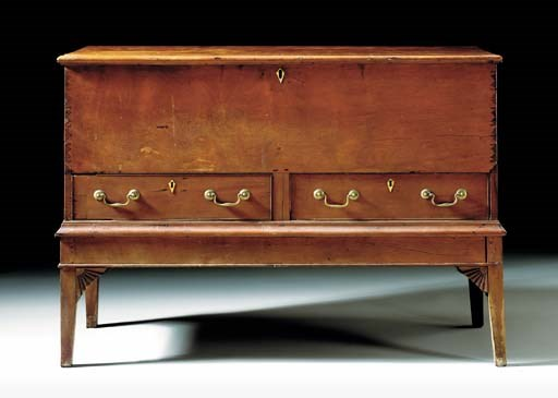 A CHIPPENDALE CEDAR CHEST-ON-F