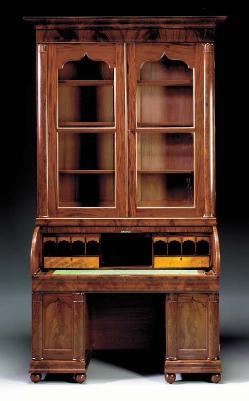 A GOTHIC-REVIVAL CYLINDER-TOP