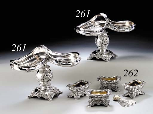 A SET OF FOUR SILVER SALTS