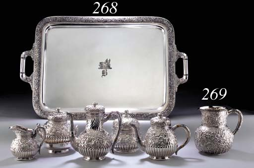 A SILVER WATER PITCHER