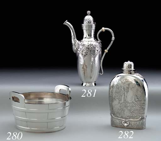 A SILVER WINE COOLER