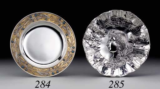 A PARCEL-GILT SILVER AND ENAME