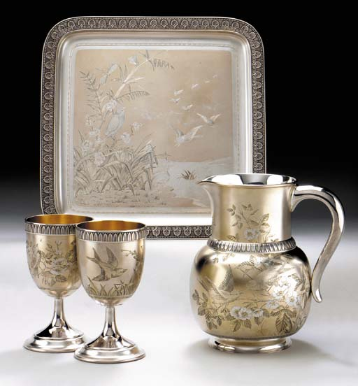 A FINE PARCEL-GILT AND ENGRAVE