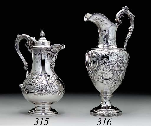 A SILVER COVERED EWER