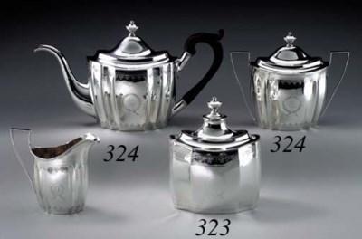 A SILVER TEA CADDY