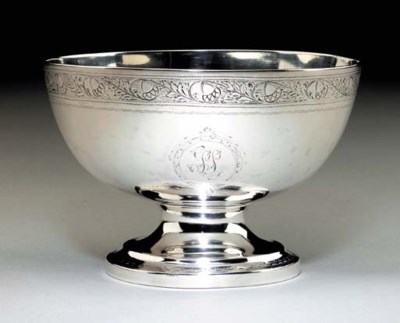 A SILVER PUNCH BOWL