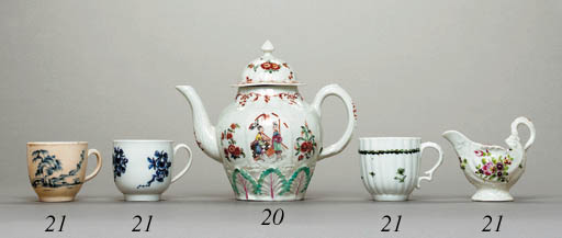 A LIVERPOOL TEAPOT AND COVER