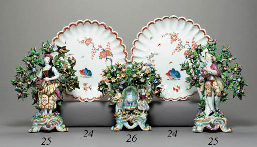 A PAIR OF BOW KAKIEMON FLUTED
