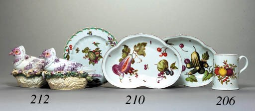 TWO DERBY PIGEON TUREENS AND C