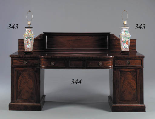 A WILLIAM IV MAHOGANY SIDEBOAR